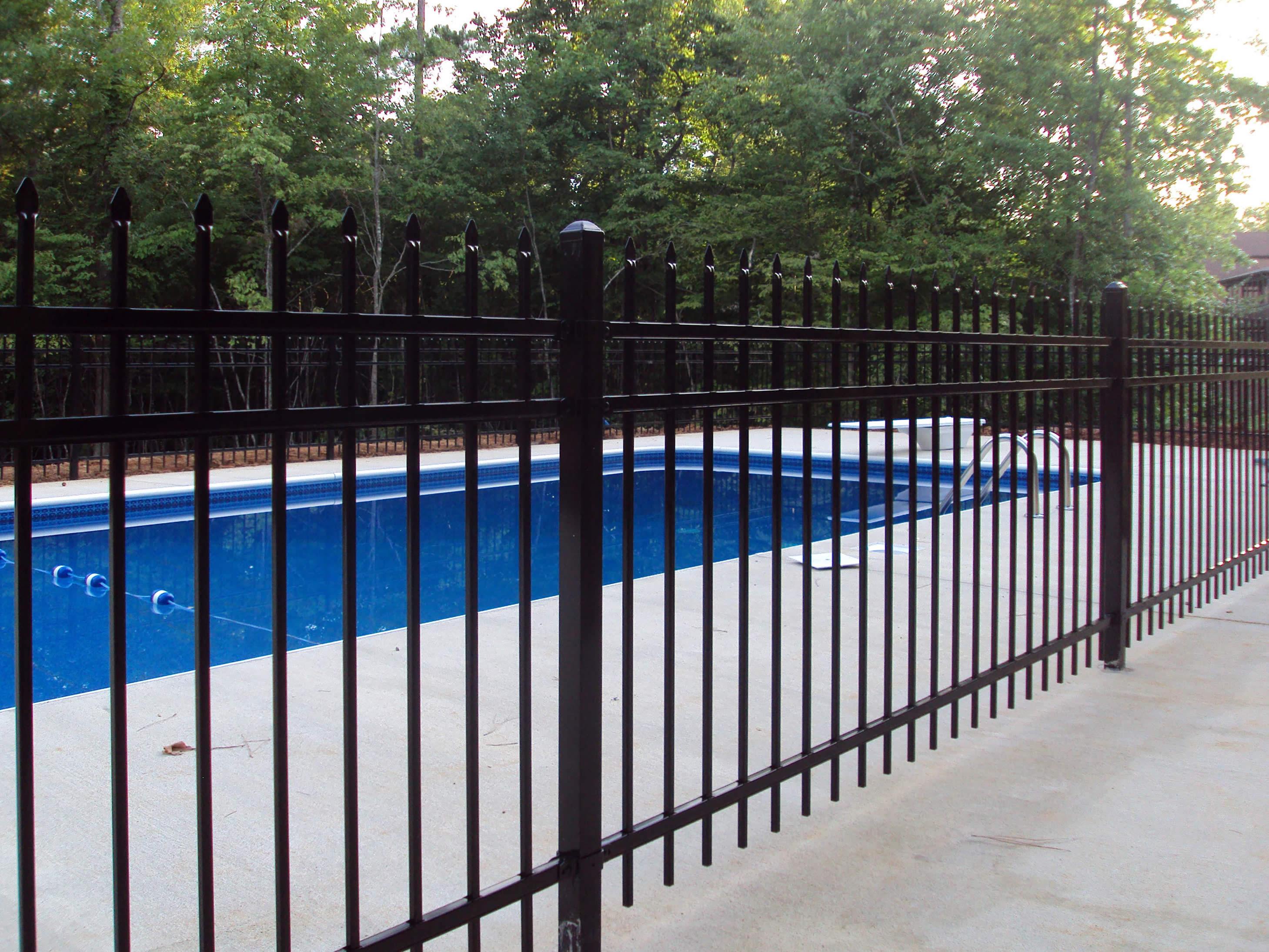 Decorative Pool Fence Decorative Fencing Anniston Al The Fence Place
