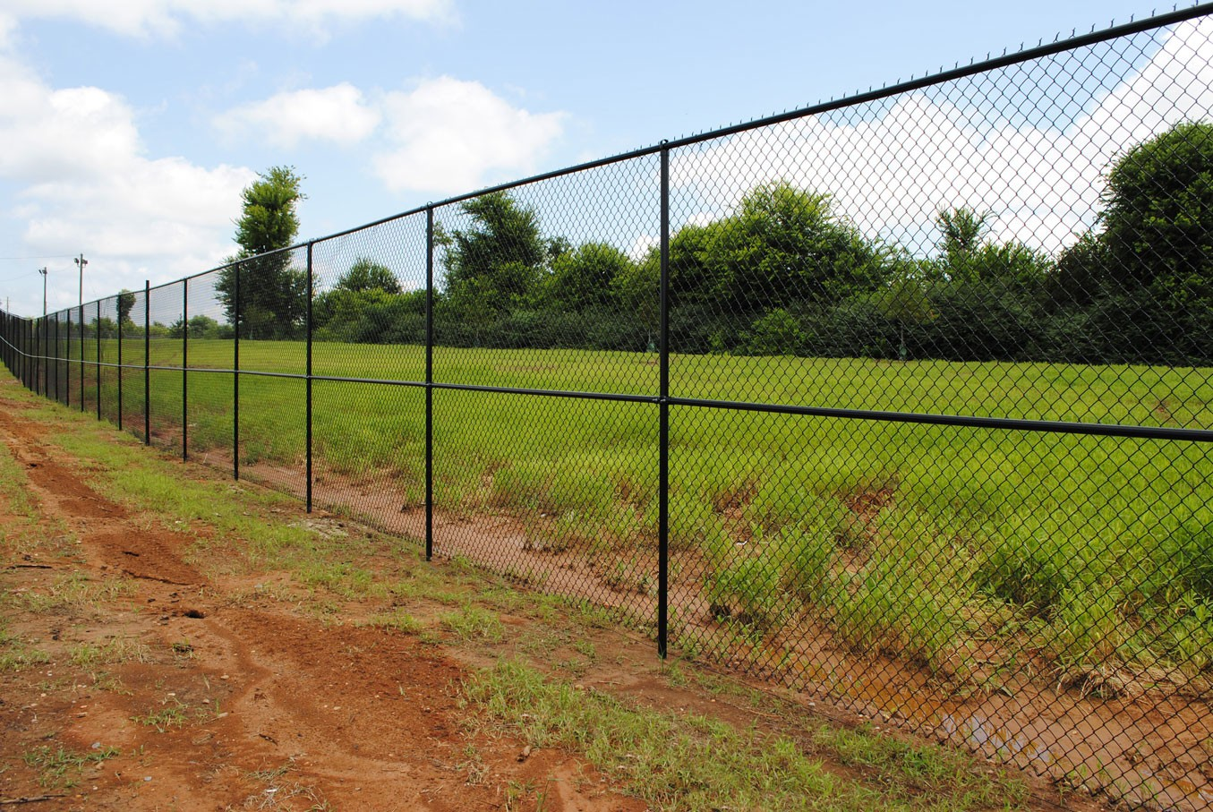 Commercial Chain Link Fence Anniston Al The Fence Place